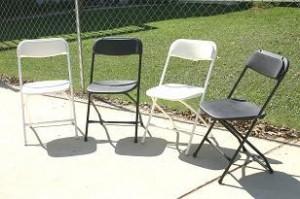 Chairs-Samsonite  Wedding White and Black