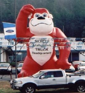 Advertising Balloon - GG the Gorilla - 25' Cold Air