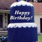 Blue Birthday Cake Advertising Balloon