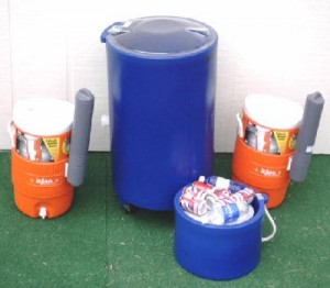 Coolers Table Top (Small)  Upright Large (Not Shown 120 Qts)