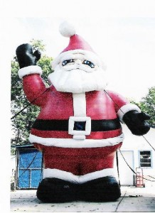 Santa Claus Advertising Balloon - 25' Cold Air